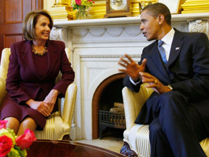 Obama and Pelosi Celebrate New Bill