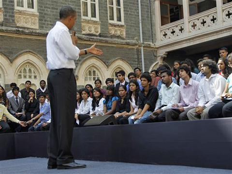 Obama nears end of stop in India