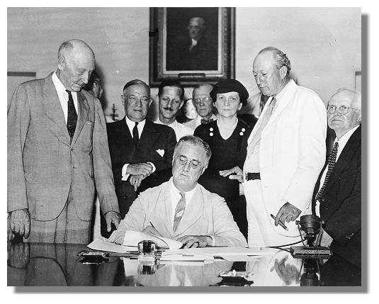 Roosevelt's Social Security Celebrates Anniversary