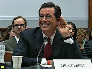 Colbert speaks in front of Congress