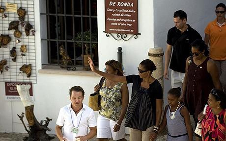 Michelle Obama Spain trip