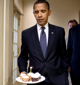 Obama birthday cupcakes - 49 years old