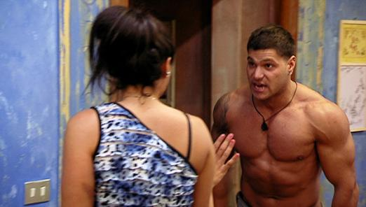 jersey shore ron and sam fight