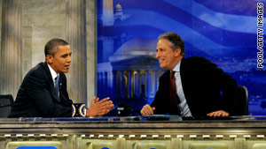 Obama and Stewart go over Obama's policies