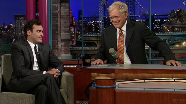 Phoenix and Letterman meet again